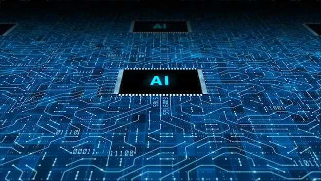 Tecnologia di intelligenza artificiale cpu sfondo