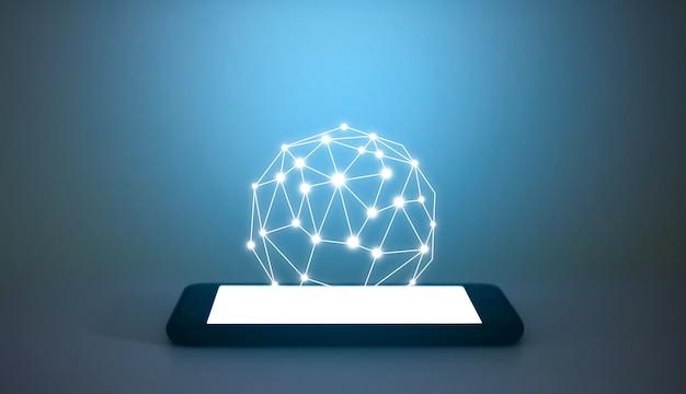 Tecnologia di rete di comunicazione digitale su smartphone