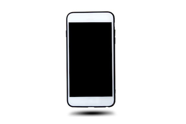 Tecnologia intelligente del telefono mobile su fondo bianco