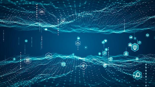 Tecnologia internet of things (iot) e concetto di rete.