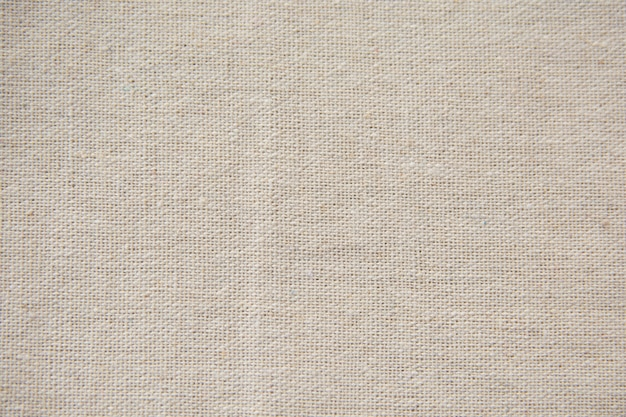 Tela bianca, sfondo trama di tela di sacco