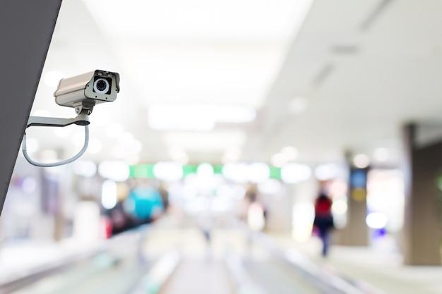 Telecamera o sorveglianza cctv installata a parete