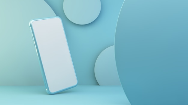 Telefono blu con schermo bianco