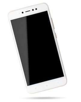 Telefono cellulare su bianco. smartphone isolato