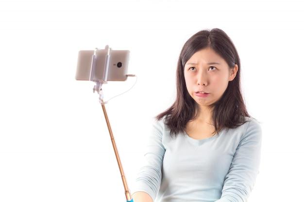 Telefono fotografare le persone cinesi bianco