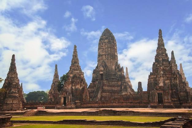 Tempio antico, parco storico di ayutthaya nel parco storico di ayutthaya, ayutthaya, tailandia del paesaggio.
