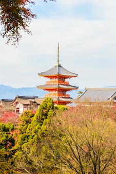 Tempio di dera di kiyomizu a kyoto al giappone