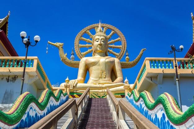 Tempio di wat phra yai ko fan. big buddha a koh samui, thailandia