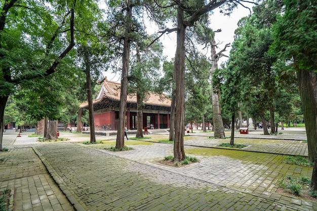 Tempio e cimitero di confucio di qufu nel patrimonio mondiale dell'unesco