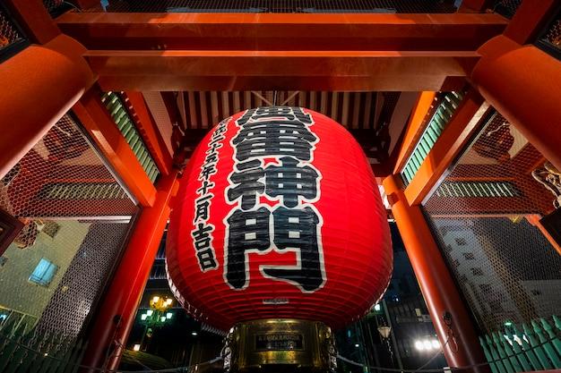 Tempio sansoji famoso a tokyo, in giappone