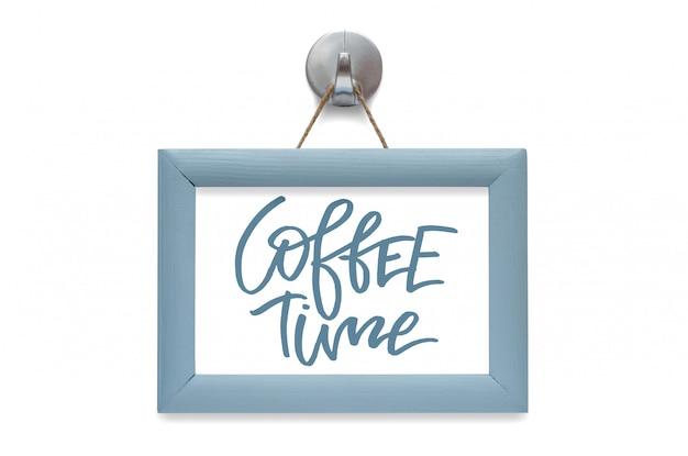 Tempo del caffè. calligrafia moderna. citazione motivazionale.