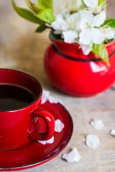 Tempo del caffè e primavera