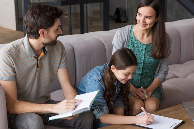 Tempo di lezione in famiglia