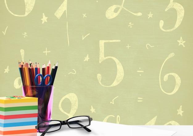 Tempo di simbolo tagliato idee doodle