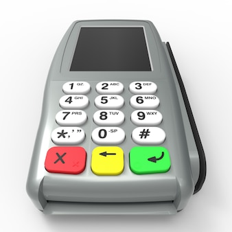 Terminale di pagamento con carta. terminale pos isolato