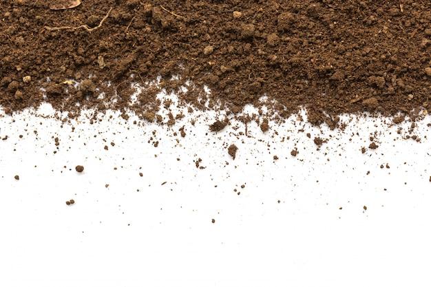 Terra sporca. consistenza del suolo naturale