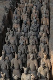 Terracotta warriors è una collezione di sculture in terracotta raffiguranti gli eserciti di qin s