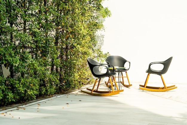 Terrazza e sedia patio
