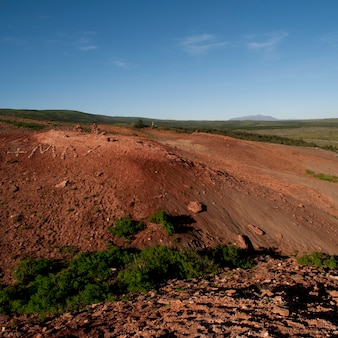 Terreno ricco di ferro eroso dalla campagna