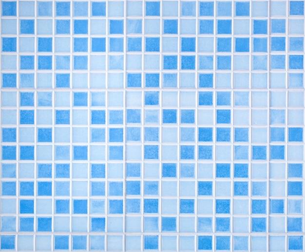 Tessere di mosaico colorato blu