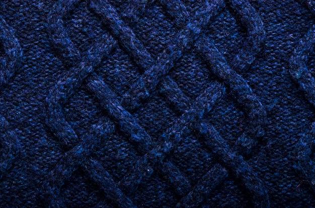 Tessitura a maglia tessuto fantasia realizzato in lana. sfondo, copia spazio