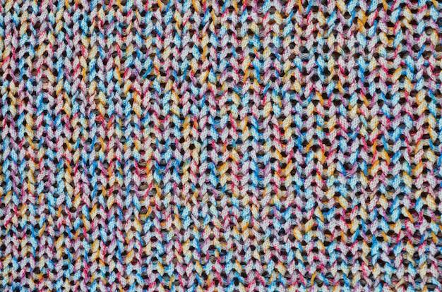 Tessuto a maglia multicolore.