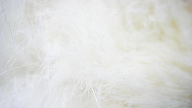 Tessuto bianco sullo sfondo, panno bianco e morbida pelliccia bianca