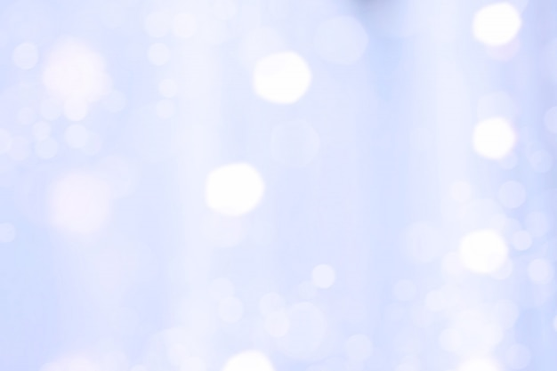 Tessuto blu con sfocatura riflessa di luce bokeh