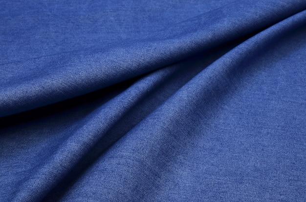 Tessuto denim blu