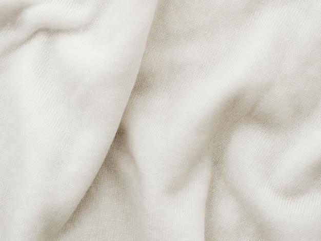 Tessuto di stoffa strutturato piegato bianco