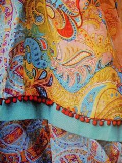 Tessuto disegno a colori, blu