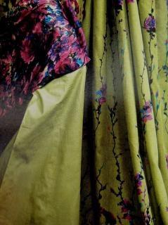 Tessuto disegno a colori, lo stile