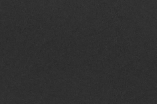 Tessuto in lino nero con motivo a trame incrociate texture di sfondo