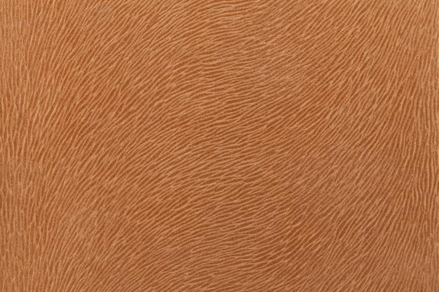 Tessuto marrone opaco che imita la pelliccia degli animali