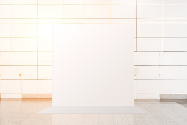 Tessuto pop-up unità base banner pubblicitario media display sullo sfondo, sfondo vuoto
