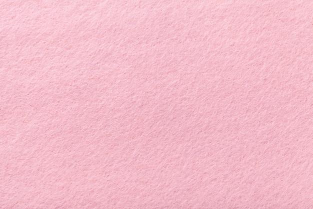 Tessuto scamosciato rosa chiaro opaco trama vellutata di feltro,