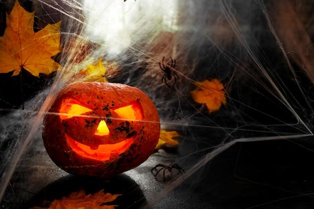 Testa di zucca di halloween.