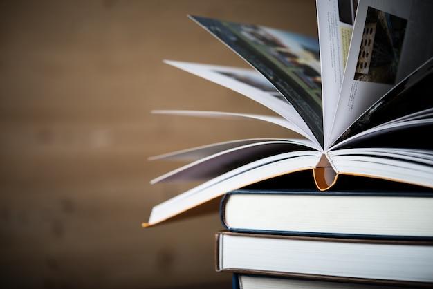 Testo di studio libro di insegnante di stack
