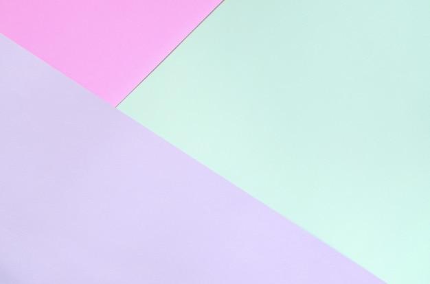 Texture di colori pastello di moda. carte con motivi geometrici rosa, viola e blu.