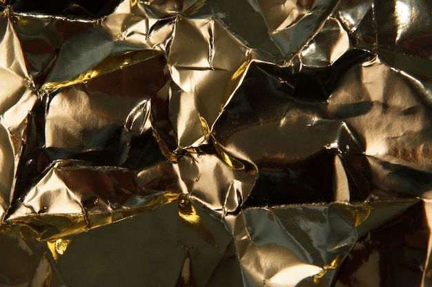 Texture di lamina d'oro stropicciata