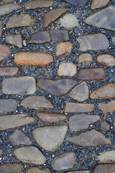 Texture di pavimentazione in pietra piastrelle acciottolato sfondo di mattoni