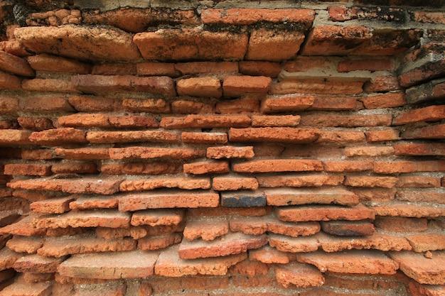 Texture di vecchi mattoni e decaduto.