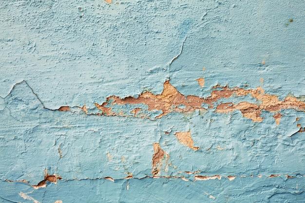 Texture di vernice blu peeling