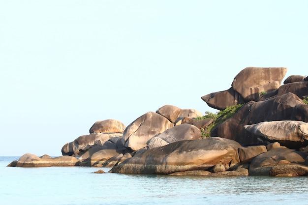 Thailandia snoopy rock, parco nazionale di similan.
