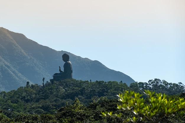 Tian tan o il grande / gigante buddha. punto di riferimento e popolare per le attrazioni turistiche di hong kong