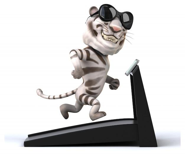 Tigre divertente