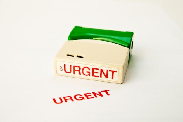 Timbro urgente