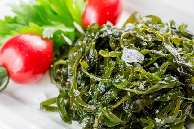 Tiro dettagliata di verdure verdi