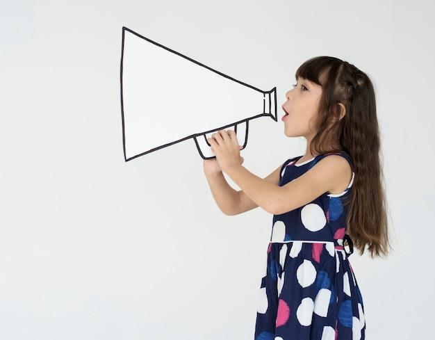 Tiro emozionale dello studio della gente di infanzia di infanzia del bambino