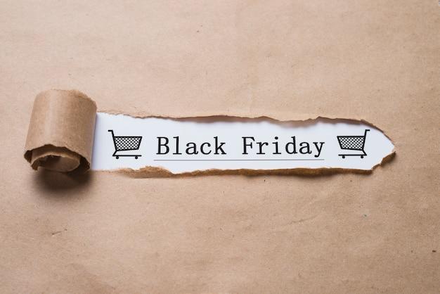 Titolo del venerdì nero e foglio del mestiere